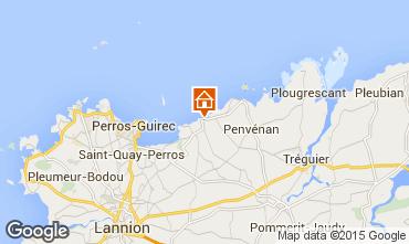 Mapa Perros-Guirec Apartamentos 79685