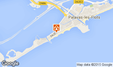 Mapa Palavas-les-Flots Estúdio 6115
