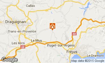 Mapa Roquebrune sur Argens Vivenda 95485