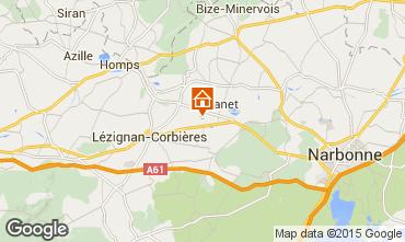 Mapa Carcassonne Casa de turismo rural/Casa de campo 38926
