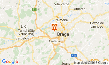 Mapa Braga Casa de turismo rural/Casa de campo 108806