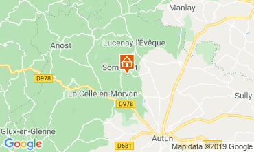 Mapa Autun Casa de turismo rural/Casa de campo 112324