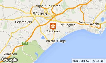 Mapa Sérignan Apartamentos 98785