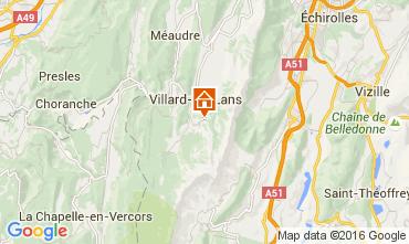 Mapa Villard de Lans - Corren�on en Vercors Est�dio 3684