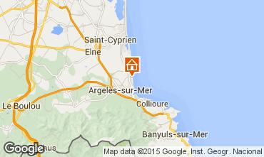Mapa Argeles sur Mer Apartamentos 22084