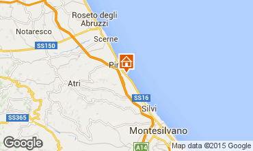 Mapa Pineto Apartamentos 85795