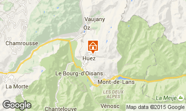 Mapa Alpe d'Huez Apartamentos 104