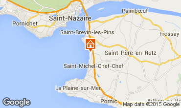 Mapa Saint Brevin les Pins Mobil Home 101937
