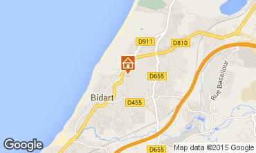 Mapa Bidart Apartamentos 83030