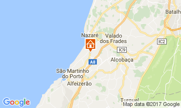Mapa Nazaré Apartamentos 109752