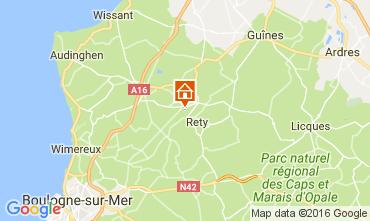 Mapa Wissant Casa de turismo rural/Casa de campo 106604