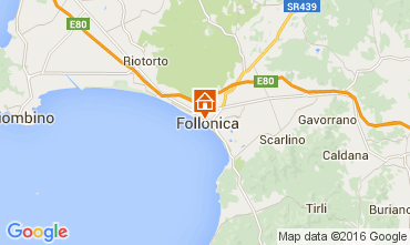 Mapa Follonica Apartamentos 85671