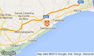Mapa Tavira Apartamentos 102385