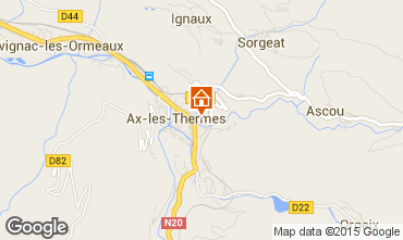 Mapa Ax Les Thermes Apartamentos 68250
