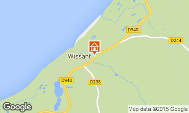 Mapa Wissant Casa de turismo rural/Casa de campo 51749