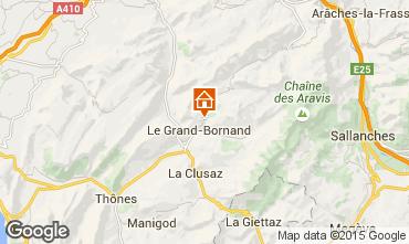 Mapa Le Grand Bornand Chalé 86535