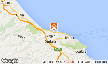 Mapa Dénia Apartamentos 9697