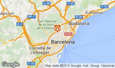 Mapa Barcelona Apartamentos 81207
