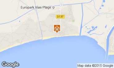 Mapa Vias Praia Mobil Home 59868