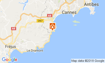 Mapa Théoule sur Mer Casa 113163