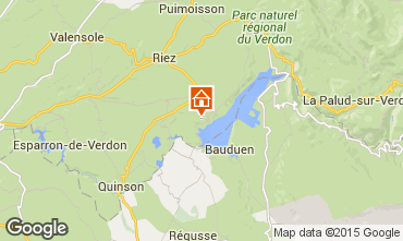 Mapa Sainte-Croix-du-Verdon Casa de turismo rural/Casa de campo 86894