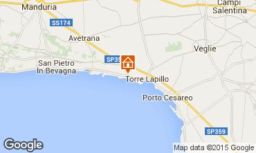 Mapa Porto Cesareo Apartamentos 61664