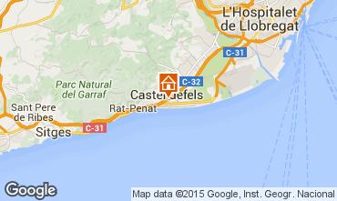 Mapa Casteldefels Apartamentos 59696