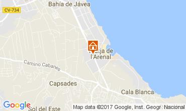 Mapa Jávea Apartamentos 112514