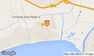Mapa Vias Praia Mobil Home 96200