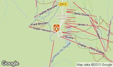 Mapa Les 2 Alpes Apartamentos 82308