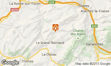 Mapa Le Grand Bornand Apartamentos 1370