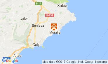 Mapa Moraira Vivenda 50670