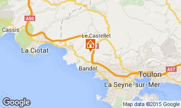 Mapa La Cadière d'Azur Vivenda 94916