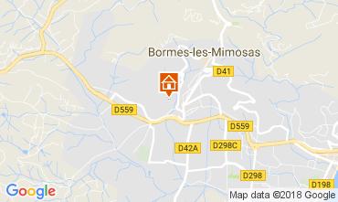 Mapa Bormes Les Mimosas Apartamentos 112903