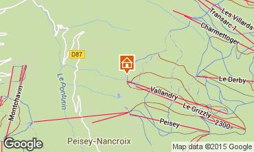 Mapa Peisey-Vallandry Apartamentos 93854