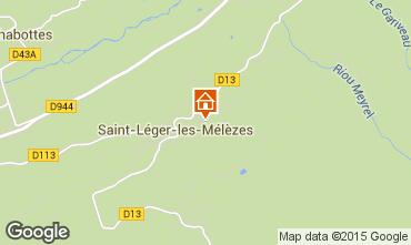 Mapa Saint L�ger les M�l�zes Chal� 74556