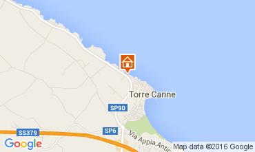 Mapa Torre Canne Apartamentos 93321
