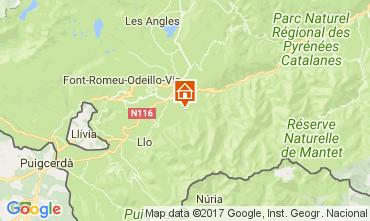 Mapa Font Romeu Chalé 59119