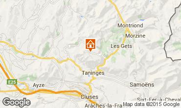 Mapa Praz de Lys Sommand Chalé 66149