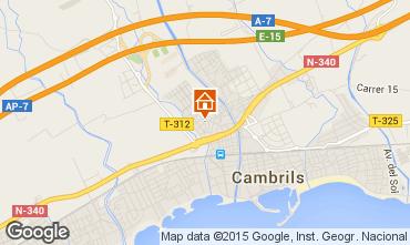 Mapa Cambrils Apartamentos 33341