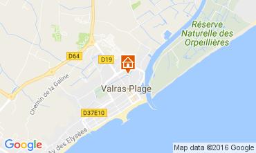 Mapa Valras-Praia Mobil Home 106632