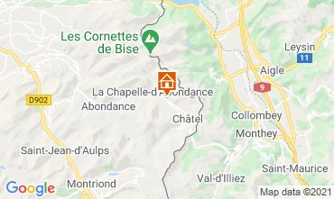 Mapa Châtel Chalé 600