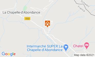 Mapa La Chapelle d'Abondance Chalé 600