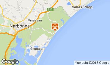 Mapa Narbonne Apartamentos 51782