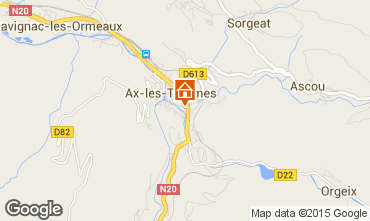 Mapa Ax Les Thermes Apartamentos 58968