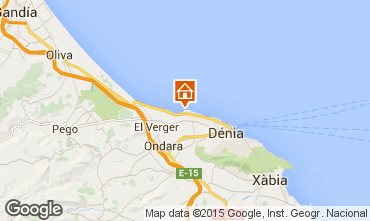 Mapa Dénia Apartamentos 94437