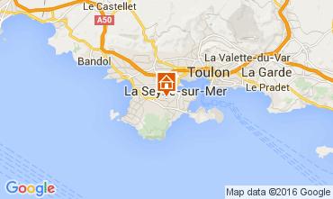 Mapa La Seyne sur Mer Apartamentos 71966