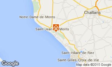 Mapa Saint Jean de Monts Casa 101880