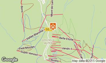 Mapa Les 2 Alpes Chalé 91812