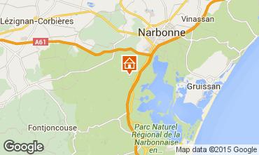 Mapa Narbonne Apartamentos 41818